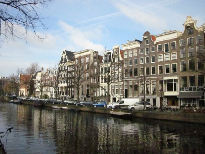 blue sky in Amsterdam